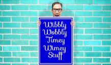 Doctor Who Wibbly Wobbly Timey Wimey Art - Wall Art Print Poster   - Kids Children Bedroom Geekery